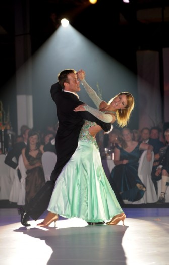 Dancers Anton Du Beke and Erin Boag at the Energy Ball 2009 held at AECC. Picture by KEVIN EMSLIE