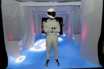 The Stig arrives at Energy Ball 2009 held at AECC. Picture by KEVIN EMSLIE