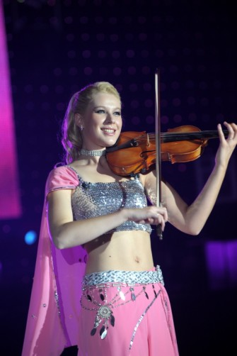 Violinist Victoria Yellop performing at the Energy Ball 2009 held at AECC. Picture by KEVIN EMSLIE