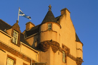 An architectural detail of Fyvie Castle. 2001.